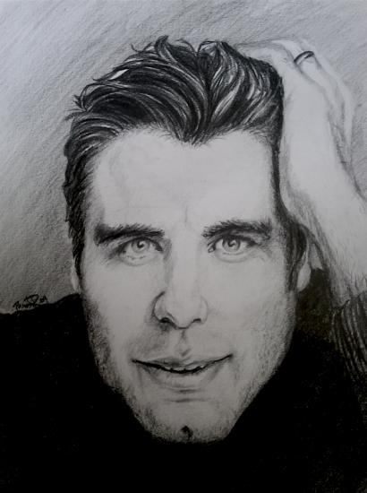 John Travolta par pamela